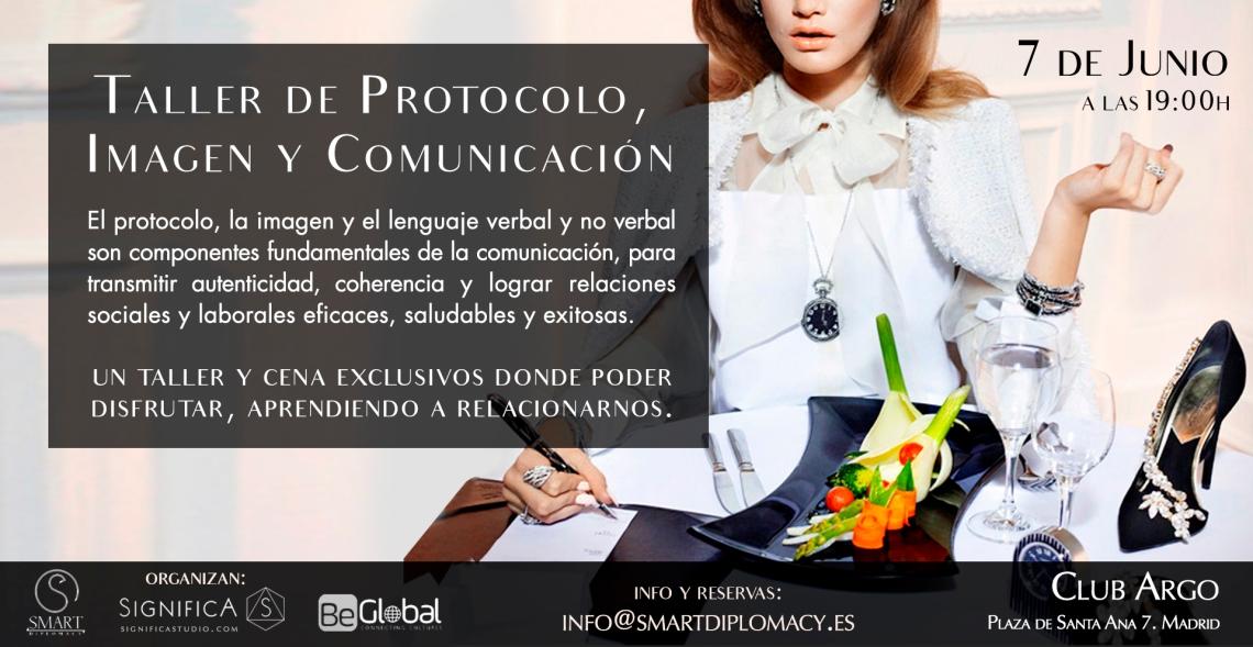 Taller de protocolo imagen y comunicación banner